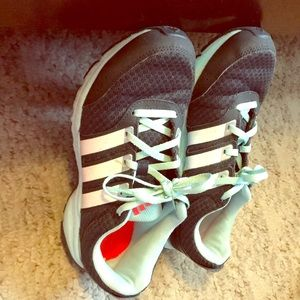 Blue adidas shoes